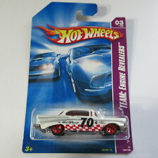 '57 Chevy #155 Hot Wheels Car Team Engine Revealers 3/4 2008 White w/ Red 5 Sp