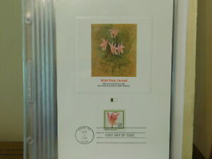 WILD PINK ORCHID STAMP FIRST DAY ISSUE 1984