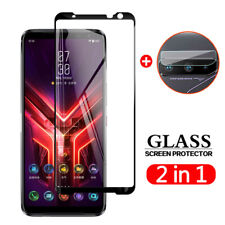 For Asus ROG Phone 5 /3 Camera Lens Film + 9H Tempered Glass Screen Protector
