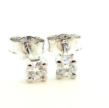 9CT HALLMARKED WHITE GOLD 0.20CTS G/H SI1 DIAMOND SOLITAIRE STUD EARRINGS
