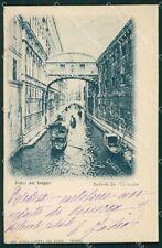 Venezia Città Ponte Sospiri Gondole cartolina XB5066