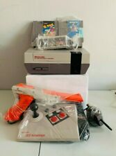 Original Nintendo NES 2 Games ,Controller ,Zapper, Joystick + More Please Read