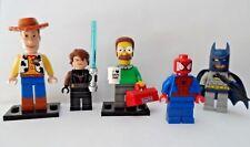 Lego Minifigures Job Lot  Anakin Skywalker Batman Woody Spiderman Ned Flanders