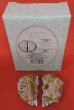 2004 Cherished Teddies Avon Exclusive Valentine Magnets Set/2 115674