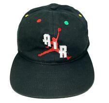 Nike Vintage 90s Air Jordan Authentic Snapback Cap Rare Hat Black Jumpman 560539