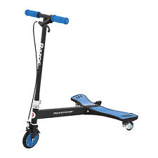 Razor PowerWing 125mm 3 Wheel Inclined Caster Powered Kids Ride Scooter, Blue