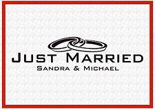 Just Married Hochzeit Wedding 45 cm  Trauung Sticker Aufkleber Folie Decal