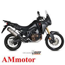 Mivv Honda Africa Twin 1000 2016 Terminale Scarico Oval Titanio Carbon Cap Moto