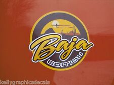 "Custom Badge Emblem Pair ""BAJA EDITION""  Sticker Decal Truck Jeep Dune Buggy"
