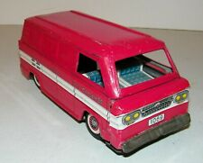 Vintage Japan KTS Tin Friction Chevy Chevrolet Corvair 95 Panel Delivery Van Red