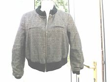 top-shop-ladies-gold-sparkly-bomber-style-jacket-size-14