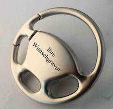 AUTO LENKRAD Metall-Schlüsselanhänger - Glücksbringer - mit WUNSCHGRAVUR