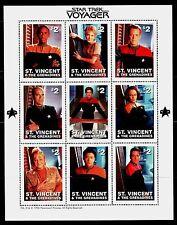 SELLOS  CINE. ST. VICENTE & GRANADINES 1996 STAR TREK VOYAGER 9v.MH