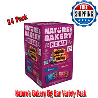Nature's Bakery Fig Bar Variety Pack, Raspberry And Blueberry, Non-GMO, 24 Pack