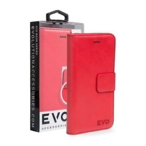 Premium Quality Wallet Case for Apple iPhone 7 Evo - Red- Fast Shipping