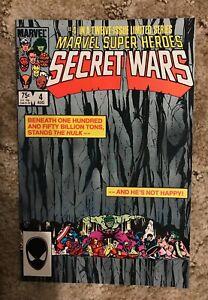 Marvel Super Heroes SECRET WARS issue #4 Marvel Comics 1984