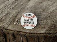 2015 Yankees Universe Baseball Silver Tone Metal & Enamel Lapel Pin Pinback