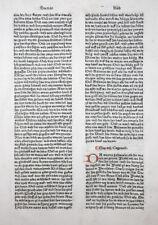 BIBLIA GERMANICA INKUNABELBLATT 7.DEUTSCHE BIBEL VOR LUTHER SORG AUGSBURG 1477