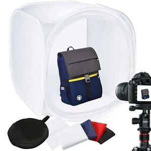 Light Cube Tent 80cm Photography Box Backdrop Studio Photo Softbox Lighting UK
