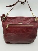 Authentic REBECCA MINKOFF MINI LUSCIOUS Red Leather Grommets Crossbody Bag $425