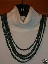 Coldwater Creek green multi strand necklace NWT