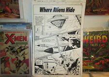 Where ALIENS Hide ART Flash Gordon 1 TITLE PAGE CHARLES NICHOLAS Charlton 1968