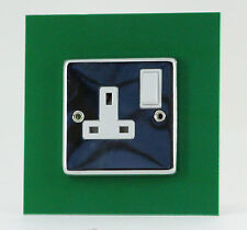 SINGLE Light Switch Plug Socket Coloured SURROUND - Available in 16 Colours