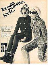 PUBLICITE ADVERTISING 054  1967  SYM   vetements de ski fuseaux knickers