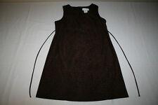 Motherhood Womens Sz Large Brown Black Leopard Print Sleeveless Maternity Dress