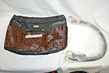 """MICHE LUXE """"LISBON"""" DEMI SHELL With Straps & Dust Bag (Brown & Black) (#S8477)"""