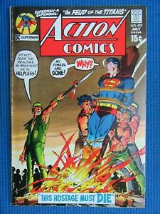 ACTION COMICS # 402 - (VF/NM) - SUPERMAN -NEAL ADAMS COVER-THIS HOSTAGE MUST DIE