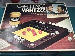 "VTG Challenge Yahtzee 1978 Dice Game Lowe Milton Bradley Family Fun ""Preowned"""