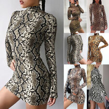 Women's Sexy Long Sleeve Turtleneck Package Bodycon Dress Party Club Mini Dress