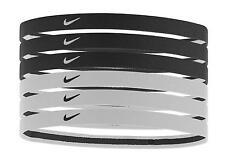 Nike SWOOSH 6PK Headband Sport Haarband 6er Pack Kopfband Schweissband Jogging