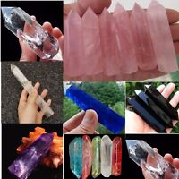 1Pcs Large Natural Rock Clear Quartz Crystal Terminated Wand Point Healing