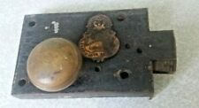 More details for antique cast iron mortice lock- chubb and sons -128- queen victoria - no key