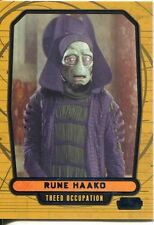 Star Wars Galactic Files 2 Blue Parallel Base Card #382 Rune Haako