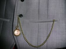 nice bronze farthing Single albert pocket watch chain fob t bar