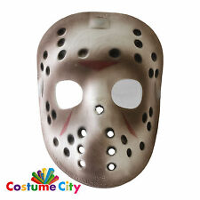 Official Jason Voorhees Friday 13th Deluxe Halloween Hockey Mask Fancy Dress