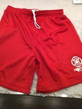 Size Small Men's Mesh Shorts Life Guarding Red Training Running Gym Basketball