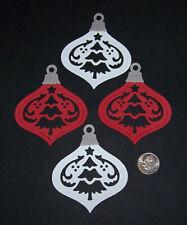 4 Christmas Ornaments Premade PAPER Die Cuts / Scrapbook & Card Making