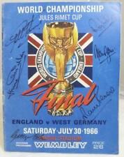 More details for 1966 england v west germany world cup final programme - signed geoff hurst + 5