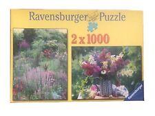 2 X 1000 Pieces Ravensburger Puzzle Summer Garden Flower Floral Bouquet Sealed