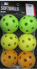 New Franklin Sports Aero Strike Softballs Set of 6 Green Yellow Orange
