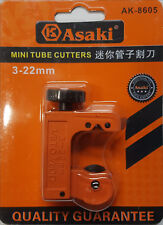 ASAKI Mini Refrigeration Copper Tube Pipe Cutter 3mm-22mm Fuel Line Brake Tubing