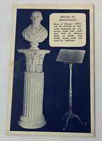 1926 postcard ~ RELICS AT MONTICELLO ~ Thomas Jefferson
