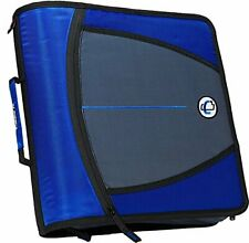 Case It The Mighty Zip Tab Zipper Binder 3 Inch O Rings 5 Pocket Expanding