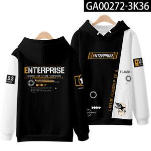 Azur Lane USS Enterprise Cosplay Men's  Hoodies Sweatshirts Unisex Coat Thin-k6