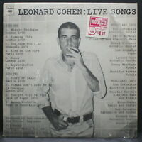 Leonard Cohen Live Songs Columbia LP KC 31724 VG+ in Shrink