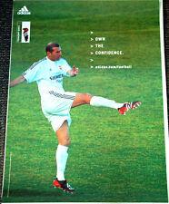 Rare ZINEDINE ZIDANE Real Madrid Adidas Football Soccer Poster c.2003